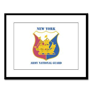 NYARNG - M01 - 02 - DUI - New York Army National Guard With Text - Large Framed Print