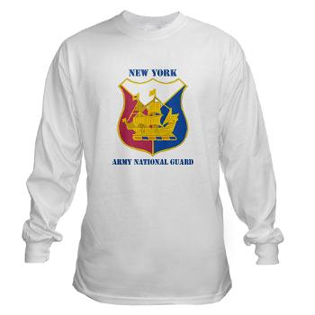 NYARNG - A01 - 03 - DUI - New York Army National Guard With Text - Long Sleeve T-Shirt