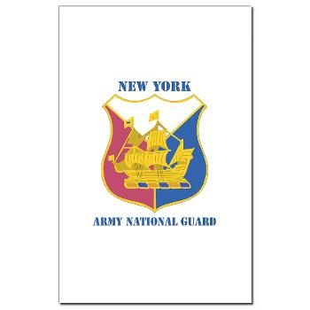 NYARNG - M01 - 02 - DUI - New York Army National Guard With Text - Mini Poster Print