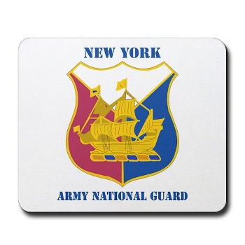 NYARNG - M01 - 03 - DUI - New York Army National Guard With Text - Mousepad