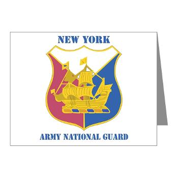 NYARNG - M01 - 02 - DUI - New York Army National Guard With Text - Note Cards (Pk of 20)