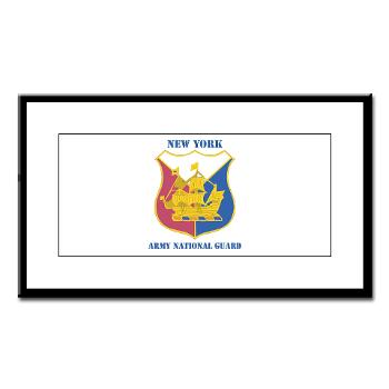 NYARNG - M01 - 02 - DUI - New York Army National Guard With Texrt - Small Framed Print