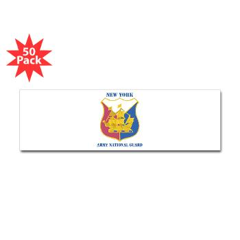 NYARNG - M01 - 01 - DUI - New York Army National Guard With Text - Sticker (Bumper 50 pk)