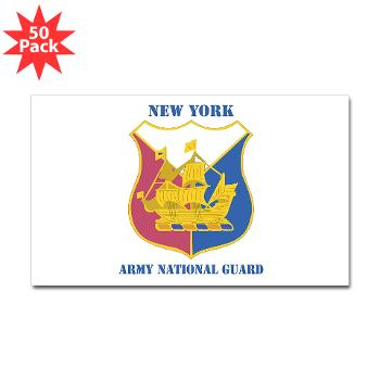 NYARNG - M01 - 01 - DUI - New York Army National Guard With Text - Sticker (Rectangle 50 pk)