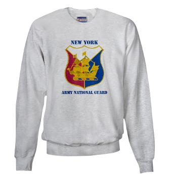 NYARNG - A01 - 03 - DUI - New York Army National Guard With Text - Sweatshirt