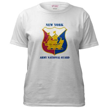 NYARNG - A01 - 04 - DUI - New York Army National Guard With Text - Women's T-Shirt