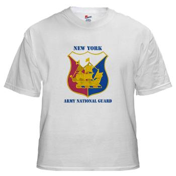NYARNG - A01 - 04 - DUI - New York Army National Guard With Text - White t-Shirt