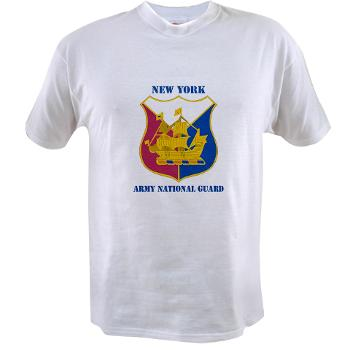NYARNG - A01 - 04 - DUI - New York Army National Guard With Text - Value T-shirt