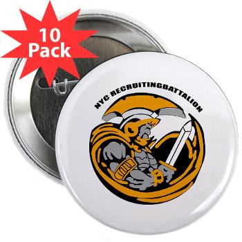 "NYCRB - M01 - 01 - DUI - New York City Recruiting Battalion 2.25"" Button (10 pack)"