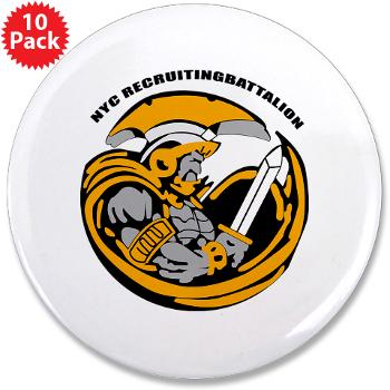 "NYCRB - M01 - 01 - DUI - New York City Recruiting Battalion 3.5"" Button (10 pack)"