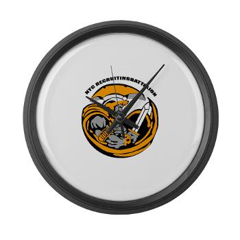 NYCRB - M01 - 03 - DUI - New York City Recruiting Battalion Large Wall Clock