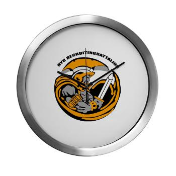 NYCRB - M01 - 01 - DUI - New York City Recruiting Battalion Modern Wall Clock