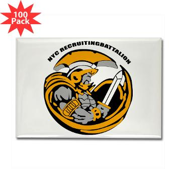NYCRB - M01 - 01 - DUI - New York City Recruiting Battalion Rectangle Magnet (100 pack)