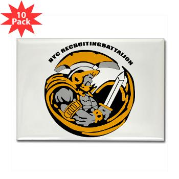 NYCRB - M01 - 01 - DUI - New York City Recruiting Battalion Rectangle Magnet (10 pack)