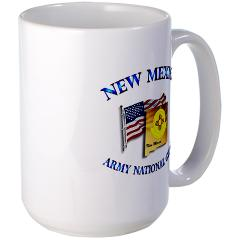 NewMexicoARNG - M01 - 03 - DUI - New Mexico Army National Guard with Flag Large Mug