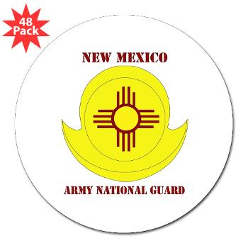 "NewMexicoARNG - M01 - 01 - DUI - New Mexico Army National Guard with text 3"" Lapel Sticker (48 pk)"
