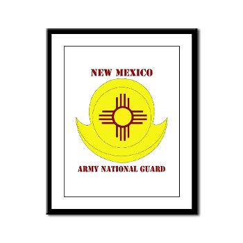 NewMexicoARNG - M01 - 02 - DUI - New Mexico Army National Guard with text Framed Panel Print