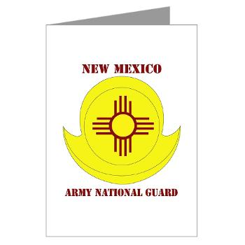 NewMexicoARNG - M01 - 02 - DUI - New Mexico Army National Guard with text Greeting Cards (Pk of 10)