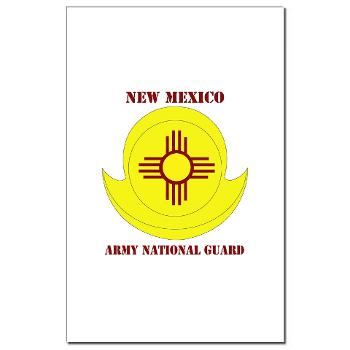 NewMexicoARNG - M01 - 02 - DUI - New Mexico Army National Guard with text Mini Poster Print