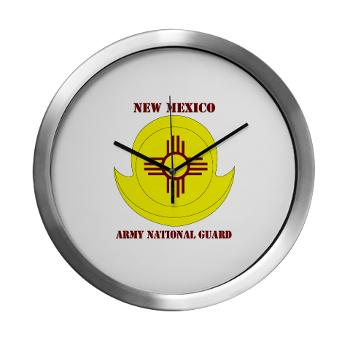 NewMexicoARNG - M01 - 03 - DUI - New Mexico Army National Guard with text Modern Wall Clock