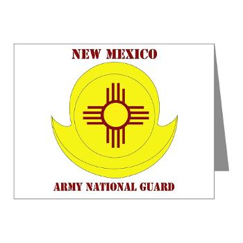 NewMexicoARNG - M01 - 02 - DUI - New Mexico Army National Guard with text Note Cards (Pk of 20)