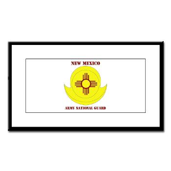 NewMexicoARNG - M01 - 02 - DUI - New Mexico Army National Guard with text Small Framed Print