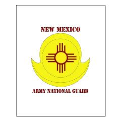 NewMexicoARNG - M01 - 02 - DUI - New Mexico Army National Guard with text Small Poster