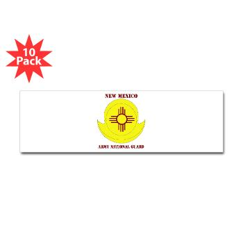NewMexicoARNG - M01 - 01 - DUI - New Mexico Army National Guard with text Sticker (Bumper 10 pk)