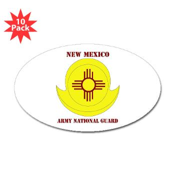 NewMexicoARNG - M01 - 01 - DUI - New Mexico Army National Guard with text Sticker (Oval 10 pk)