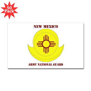 NewMexicoARNG - M01 - 01 - DUI - New Mexico Army National Guard with text Sticker (Rectangle 50 pk)