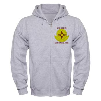 NewMexicoARNG - A01 - 03 - DUI - New Mexico Army National Guard with text Zip Hoodie