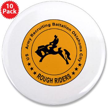 "OCRB - M01 - 01 - DUI - Oklahoma City Recruiting Bn - 3.5"" Button (10 pack)"