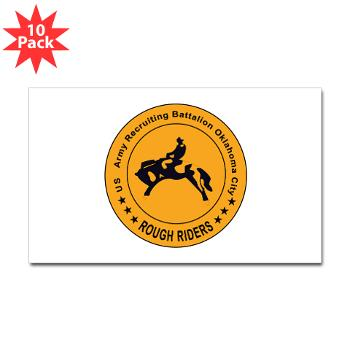 OCRB - M01 - 01 - DUI - Oklahoma City Recruiting Bn - Sticker (Rectangle 10 pk)