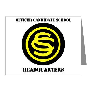 OCSH - M01 - 02 - DUI - Officer Candidate School - Headquarters with Text Note Cards (Pk of 20)