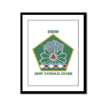 OHARNG - M01 - 02 - DUI - Ohio Army National Guard with text Framed Panel Print