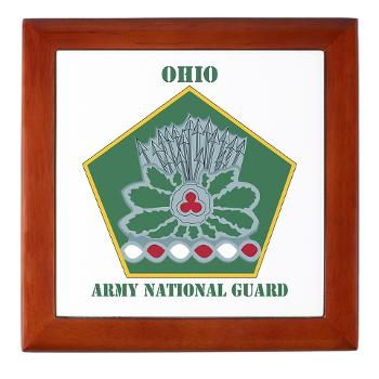 OHARNG - M01 - 03 - DUI - Ohio Army National Guard with text Keepsake Box