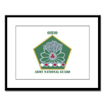 OHARNG - M01 - 02 - DUI - Ohio Army National Guard with text Large Framed Print