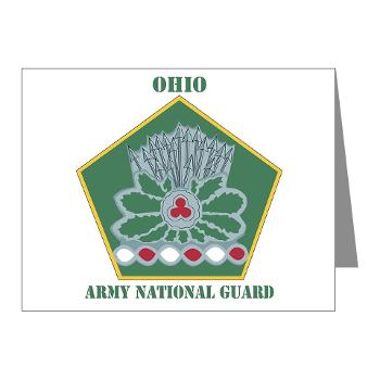 OHARNG - M01 - 02 - DUI - Ohio Army National Guard with text Note Cards (Pk of 20)
