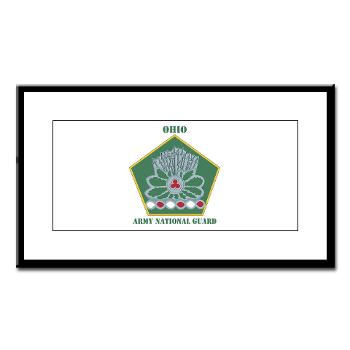 OHARNG - M01 - 02 - DUI - Ohio Army National Guard with text Small Framed Print
