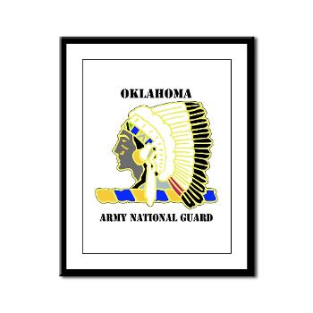 OKLAHOMAARNG - M01 - 02 - DUI - Oklahoma Army National Guard with text - Framed Panel Print