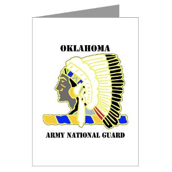OKLAHOMAARNG - M01 - 02 - DUI - Oklahoma Army National Guard with text - Greeting Cards (Pk of 20)