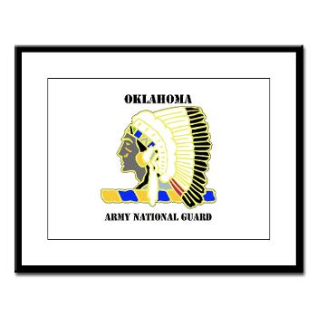 OKLAHOMAARNG - M01 - 02 - DUI - Oklahoma Army National Guard with text - Large Framed Print