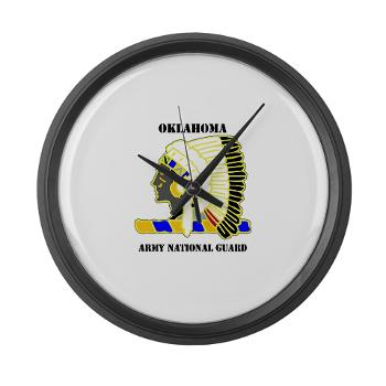 OKLAHOMAARNG - M01 - 03 - DUI - Oklahoma Army National Guard with text - Large Wall Clock