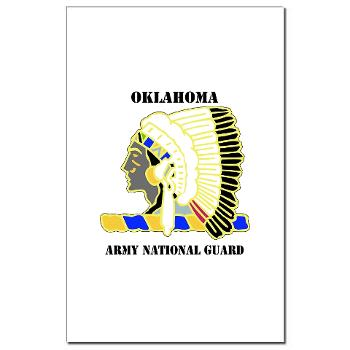 OKLAHOMAARNG - M01 - 02 - DUI - Oklahoma Army National Guard with text - Mini Poster Print