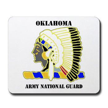 OKLAHOMAARNG - M01 - 03 - DUI - Oklahoma Army National Guard with text - Mousepad