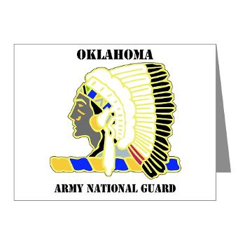 OKLAHOMAARNG - M01 - 02 - DUI - Oklahoma Army National Guard with text - Note Cards (Pk of 20)