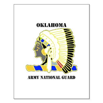 OKLAHOMAARNG - M01 - 02 - DUI - Oklahoma Army National Guard with text - Small Poster
