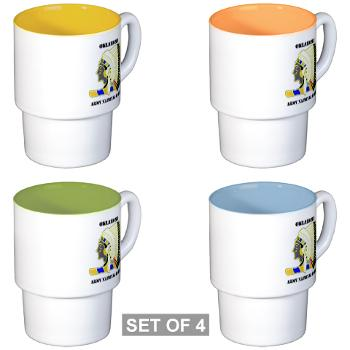 OKLAHOMAARNG - M01 - 03 - DUI - Oklahoma Army National Guard with text - Stackable Mug Set (4 mugs)