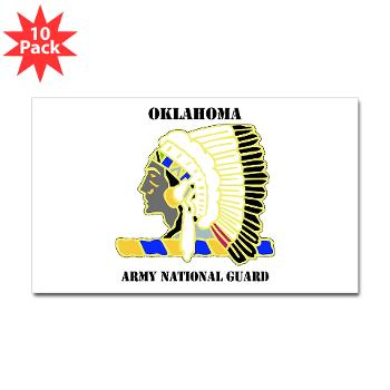 OKLAHOMAARNG - M01 - 01 - DUI - Oklahoma Army National Guard with text - Sticker (Rectangle 10 pk)