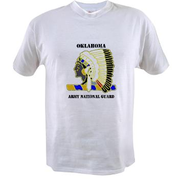 OKLAHOMAARNG - A01 - 04 - DUI - Oklahoma Army National Guard with text - Value T-shirt
